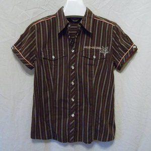 Harley Davidson Short Sleeve Pinstripe Shirt